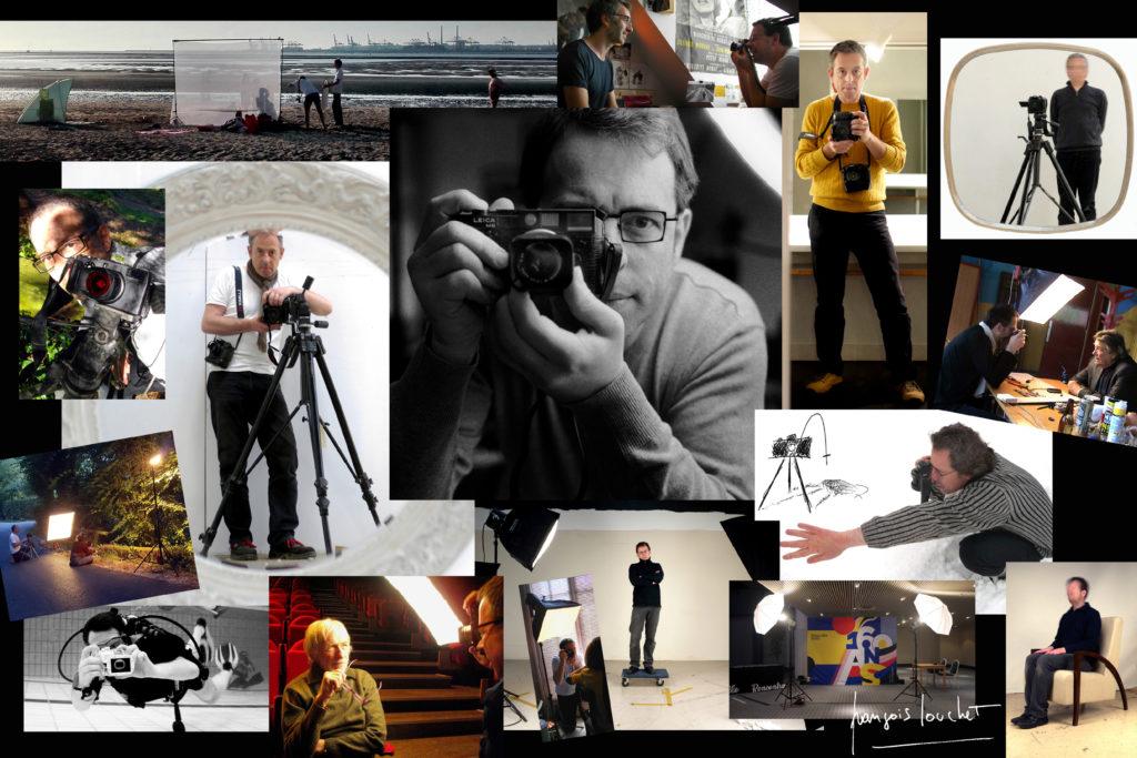 françois louchet photographe, autoportraits dans différentes prestations photographiques