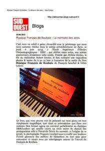 musique françois de roubaix sud ouest blog
