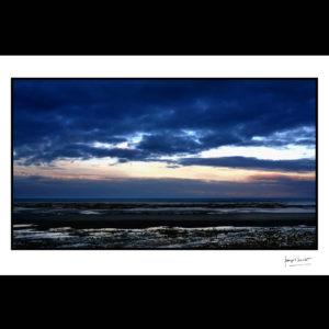normandie soirée bleutée lion-sur-mer © francois louchet